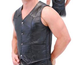 dailydeal, leather, Vest, genuineleathervest