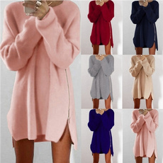 knitted, Polyester, Winter, Long Sleeve
