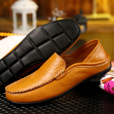 casual shoes, Flats & Oxfords, sneakersformen, leather