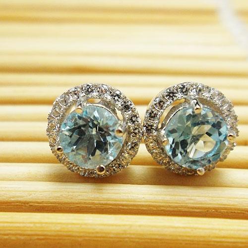 Sterling, silvertopazearring, Stud Earring, vintageearringswomen