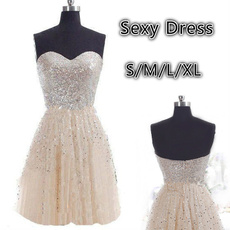 strapless, solidcolordres, chiffon, highwaistdres