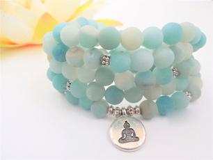 wristbracelet, 108malabead, prayerbeadsnecklace, amazonitebracelet