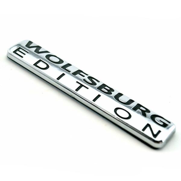 Car Sticker, Emblem, wolfsburgedition, chrome