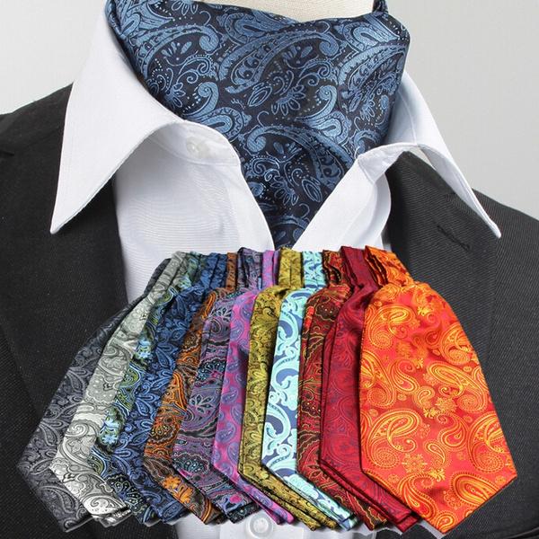 Fashion Men Ascot Tie Cravat Mens Scarf Self Ties for Wedding Necktie Neck  Tie Luxury   Wish