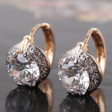 platinum, 18k gold, huggiedangle, Jewelry