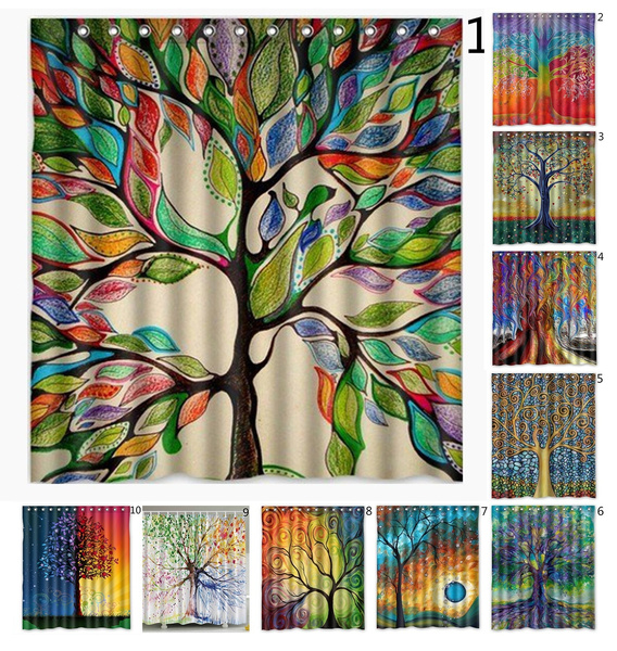 Tree, customizedshowercurtain, Bathroom Accessories, fashionshowercurtain