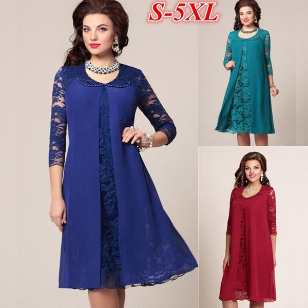 Women, slim, casual dress, Lace