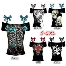 Tops & Blouses, womenstopstee, Slim T-shirt, skull