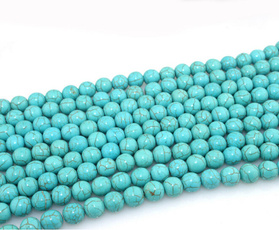 perle, Turquoise, Natural, 8MM