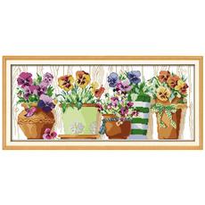 crossstitch, Decor, Flowers, Home Decor