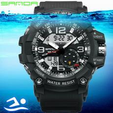 Fashion, led, Waterproof Watch, sandawatch
