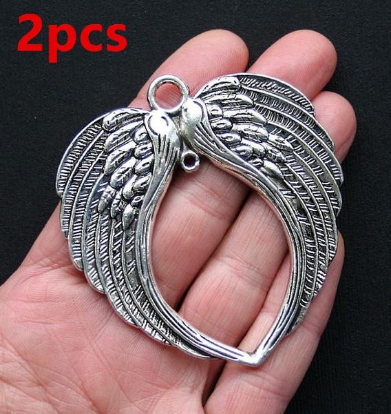 antiquesilvercharm, angelwingscharm, Angel, Jewelry Making