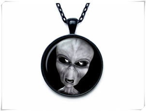 alien, Necklace, Jewelry, Pendant