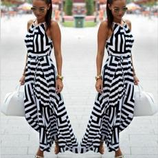 bohemia, slim dress, Fashion, geometricpattern