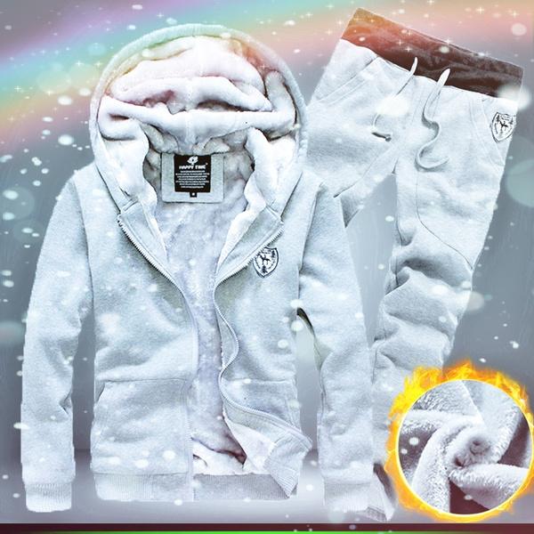 hooded, velvet, Winter, hoody tracksuit