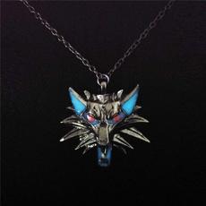 luminousnecklace, punk necklace, Jewelry, werewolf