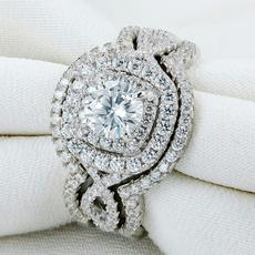 engagementringset, 925sterlingsilverjewelry, Women Ring, Classics