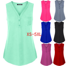 sleeveless, Plus Size, Tops & Blouses, Shirt