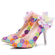 rainbow, Plus Size, Lace, Womens Shoes