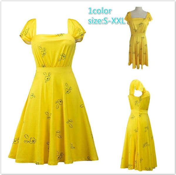 2017 New La La Land Dress Mia Emma Stone Summer Yellow Floral Skater Dress Vestidos Plus Size Short Sleeves Floral Vintage Wish