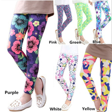 Leggings, Fashion, Floral print, Elastic
