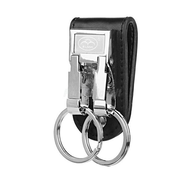Leather Belt Keychain Key Ring Holder Key Fob Buckle Clip Loop Keyring