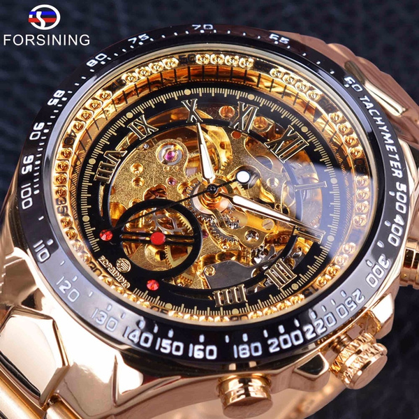 Skeleton, Jewelery & Watches, Stainless Steel Watches, relojes