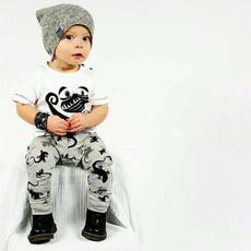 Summer, kidscartoonclothingset, pants, korean style