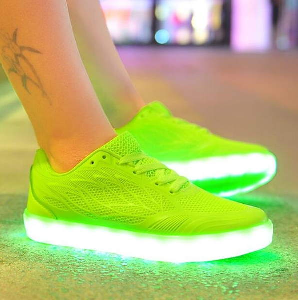 Bright Neon Color Led Sneakers for