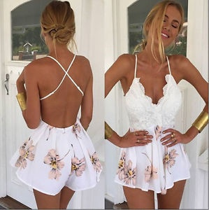 Deep V-Neck, party, Women Rompers, Shorts