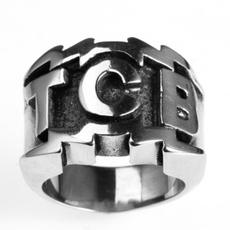 Men Jewelry, Goth, titanium steel, mensstainlesssteelring