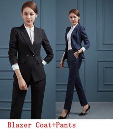 blazersuit, women pants suit, Lengan Baju, pants