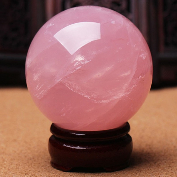 pink, crystalhealingball, pinkcrystalball, quartz