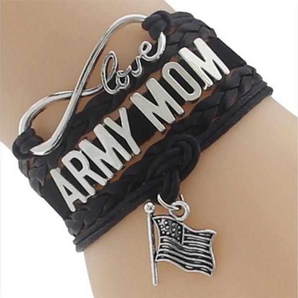 Charm Bracelet, wristbandbracelet, armymom, Love