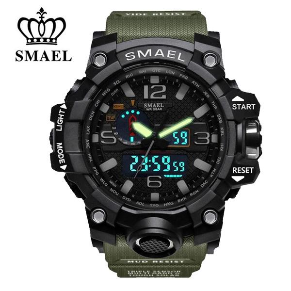 analogdigitalwatch, led, luxurybrandwatchmen, Waterproof