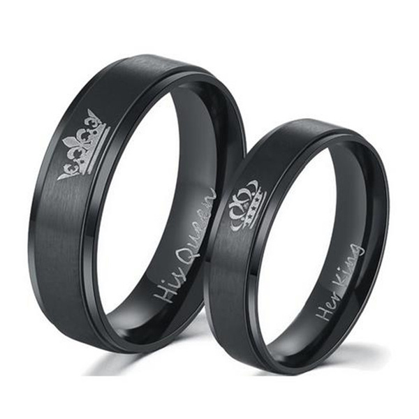 Couple Rings, King, Queen, lover gifts