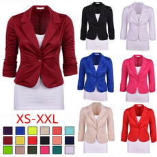 Slim Fit, Blazer, Spring, Long sleeved
