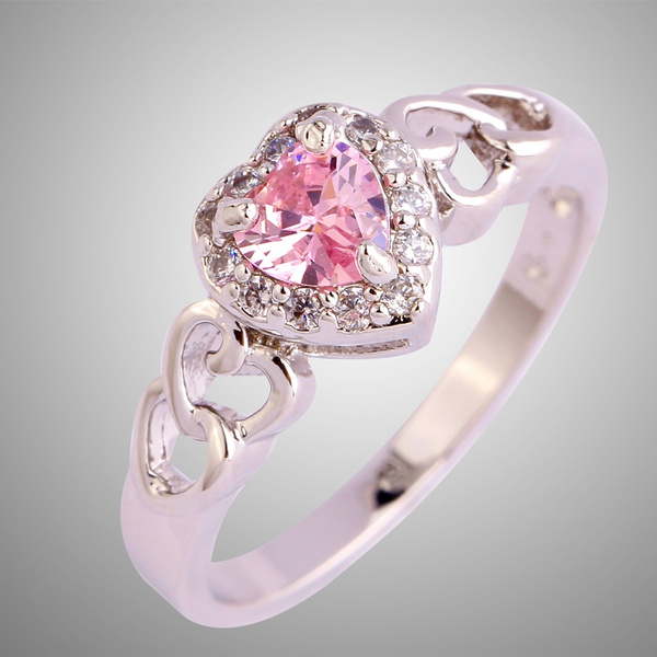 pink, Fashion, Heart, Engagement Ring