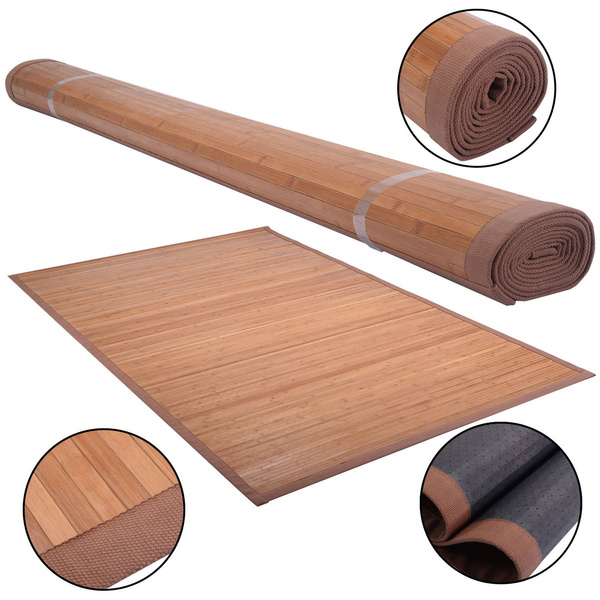 5 X 8 Bamboo Area Rug Floor Carpet, Can Bamboo Rugs Be Used Outdoors