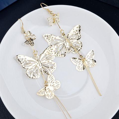 multilayerdropearring, butterfly, butterflylongearring, Jewelry