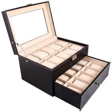 watchcasedisplayorganizer, Fashion Accessory, jewelryboxesamporganizer, 20slotswatchholder