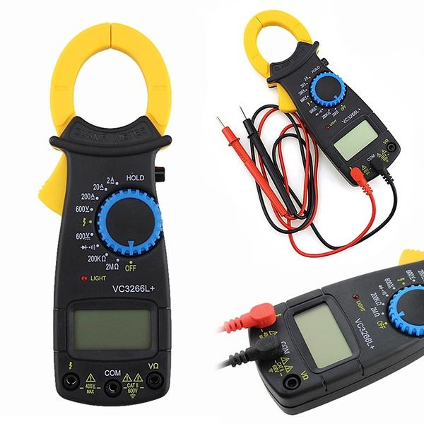 LCD Digital Clamp Multimeter OHM Amp AC//DC Voltage  Test Meter