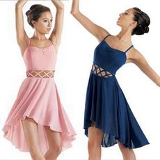 Ballet, camisoledres, hollowoutdres, Chiffon Dresses