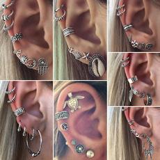 Owl, Arrow, vintage earrings, Stud Earring