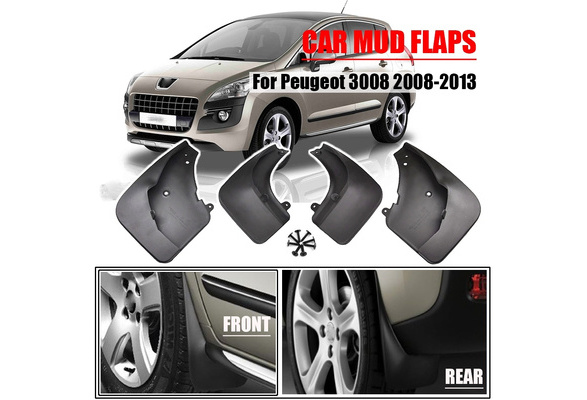 Fender Mud Guard Splash Flap Car Accessories Mudguards Mudflaps BNHHB Car Mud Flaps for Peugeot 2008 2013 2014 2015 2016 2017 2018 2019