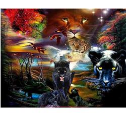 blackleopard, DIAMOND, mosaickitswallpainting, Home textile