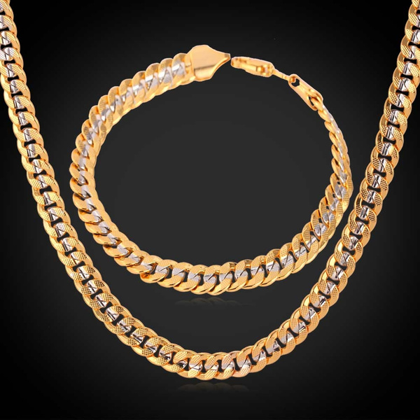 cubanchainnecklace, goldplated, Chain Necklace, Fashion