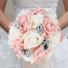 korea, Bride, Bouquet, Rose