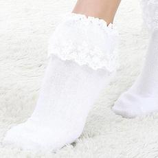 Hosiery & Socks, cute, ruffle, Lace