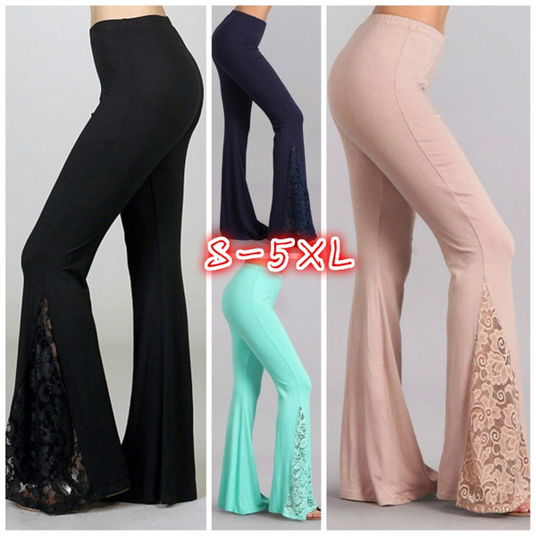 sidesplitpant, Plus Size, women trousers, Bell